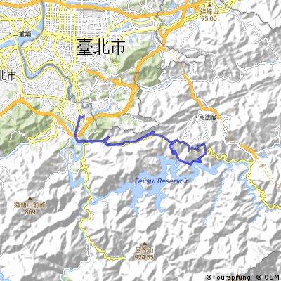 74) Taipei - bergige Straßenroute zum Damm im Süden Xindians