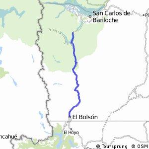 Recorrido MTB Extremo Norte Lago Mascardi/Lago Guillelmo margen Este/Cañadón dela Mosca cno. viejo/El bolsón