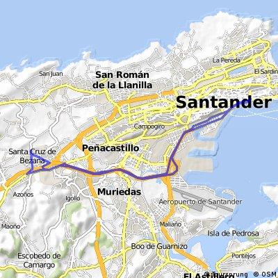 Trayecto 1 (Bezana - Santander) = 24 km