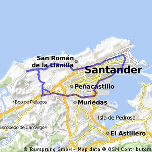 Bezana - Liencres - Santander = (32 km)