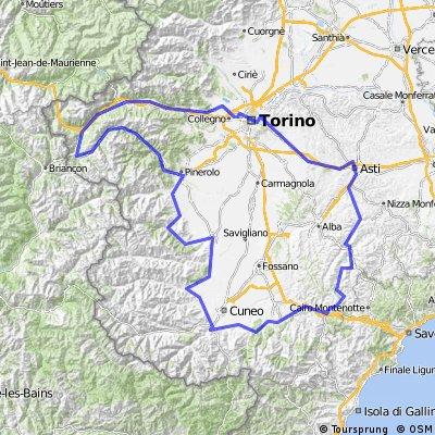 Turijn, Sestriere, Cuneo, Asti, Turijn
