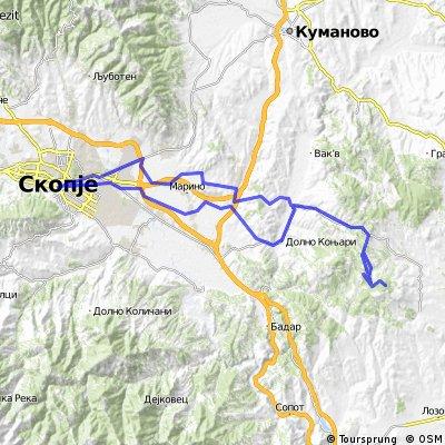 Skopje-Konjari-Djuriste-Divlje