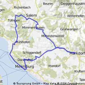 Leichte Bodenseeroute Markdorf-Meersburg
