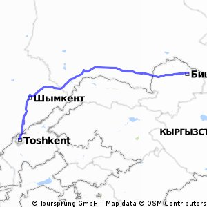 Bishkek to Tashkent 663km
