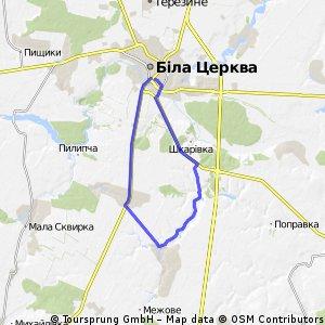 Cycling Routes And Bike Maps In And Around Bila Tserkva Bikemap - Bila tserkva map