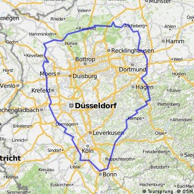 400km Brevet Rund ums Ruhrgebiet