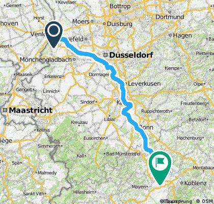 Deel 02 Ldam - Wenen: Route van Venlo naar Mamedy 20150406