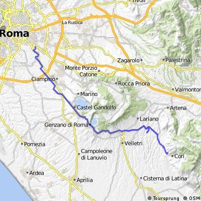#2RR - Da Roma, via Appia Antica a Cori, via Velletri e Giulianello