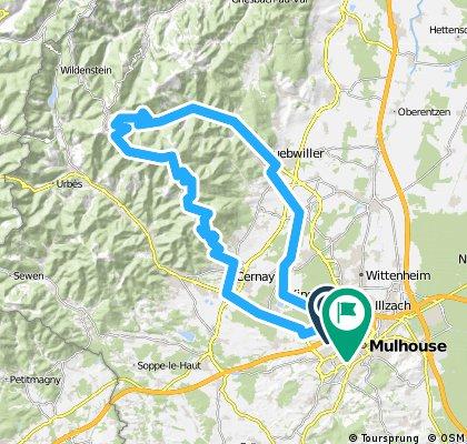 Mulhouse,Guebwiller,Grand Ballon,Uffholtz,Mulhouse