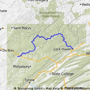 PA Wilds from Lock Haven to Clearfield