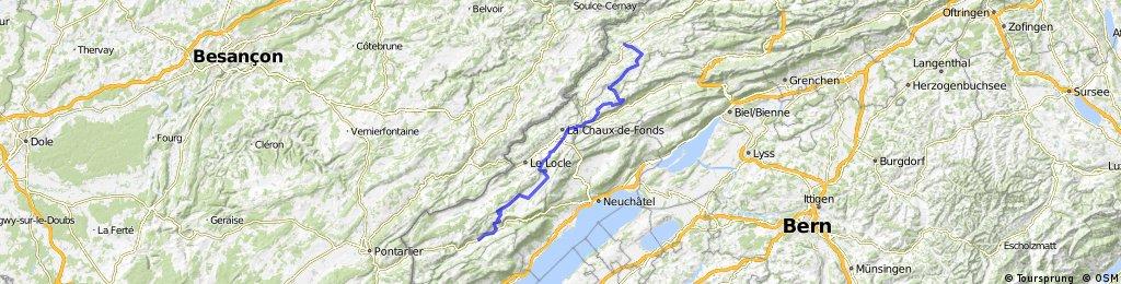Jura Tour: Couvet -> Saignlegier