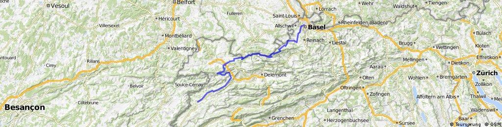 Jura Tour: Saignlegier -> Basel