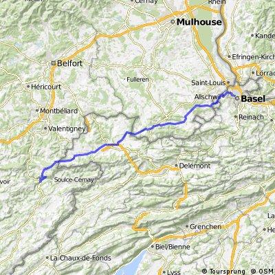 Jura Tour: Basel -> Saint Hippolyte