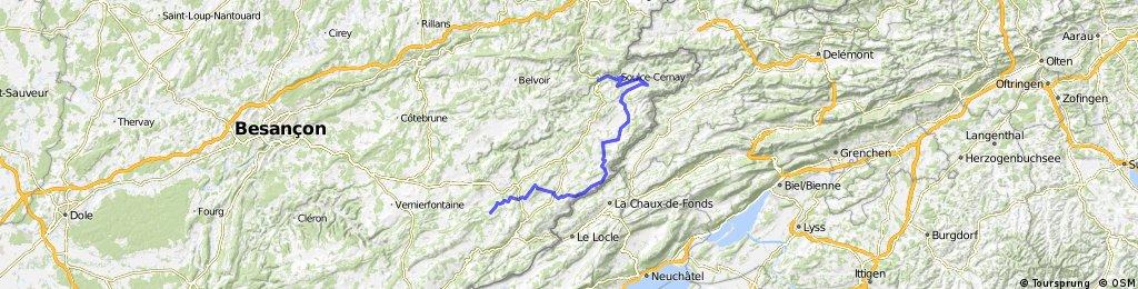 Jura Tour: Saint Hippolyte -> Luisans