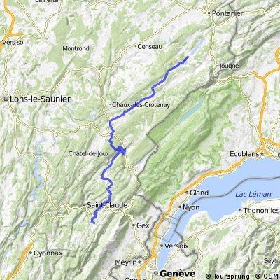 Jura Tour: Malbuisson -> Les Molunes