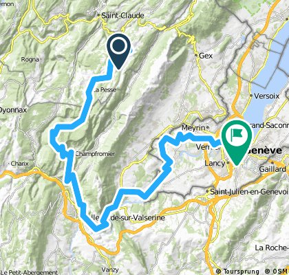 Jura Tour: Les Molunes -> Geneva