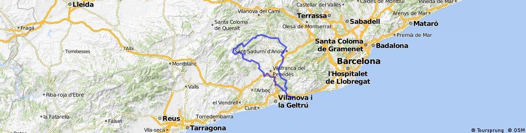 CAR.Santuari Foix-Castell de Mediona des de Sitges
