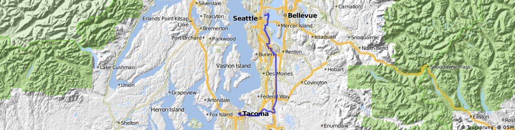 Tacoma To Seattle >> Tacoma To Seattle Bikemap Your Bike Routes