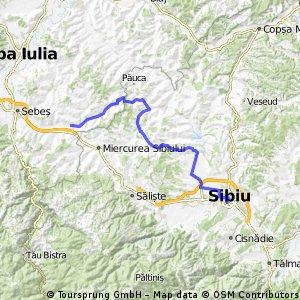 Sibiu-Ocna Sibiu-Toparcea-Ludos-Gusu-Presaca-Dostad-Boz-Cunta.