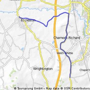 B ride Tinckler's lane to Coppull Moor
