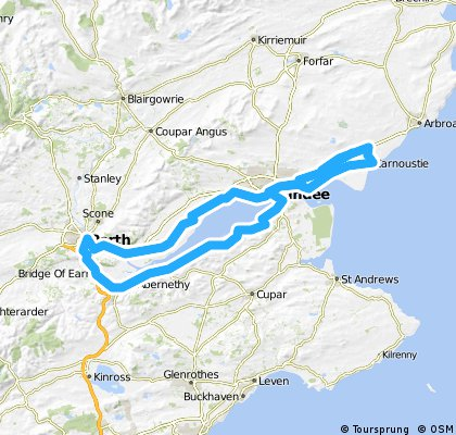 Carnoustie to Perth and back via Newport