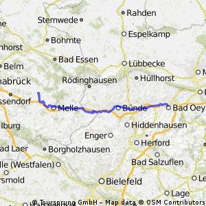 Else Werre Radweg mit Bahn Anbindung