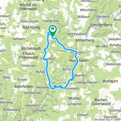 Vielbrunn - Amorbach - Buch - Preunschen - Mörschenhardt - Ernstthal - Schloß Waldleiningen - Hesselbach - Würzberg
