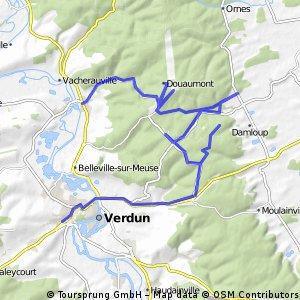 Besichtigung Schlachtfelder Verdun 37km 340hmm