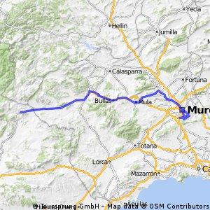 Eta 8ª Puebla de Don Fabrique, Murcia 182,6 km