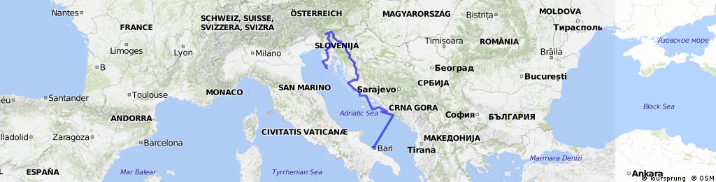 SLOVENIE - CROATIE   septembre 2014