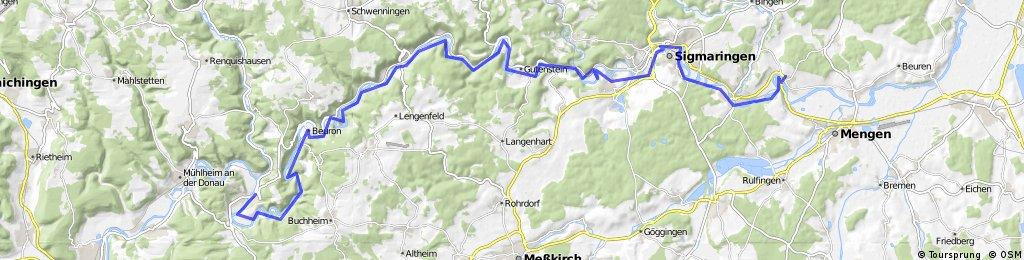 201407-02 Donauradweg  Fridingen - Scheer