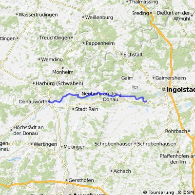201407-06 Donauradweg  Donauwörth - Weichering