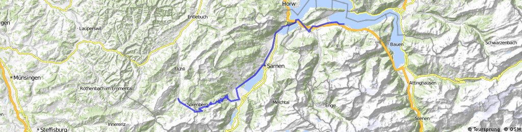 Alpine Tour: Fluhli -> Beckenried