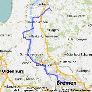 Loxstedt - Sandstedt - Ovelgönne - Elsfleth - Berne - Bremen
