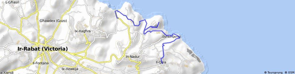 MALTA Qala-Dahlet Qorrot Bay-San Blas Bay-Rambla Bay