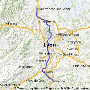 Vienne - Villefranche sur Saône