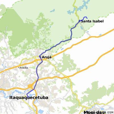 Itaquaquecetuba (CPTM) até Santa Isabel (Cahoeira Monte Negro) km 11