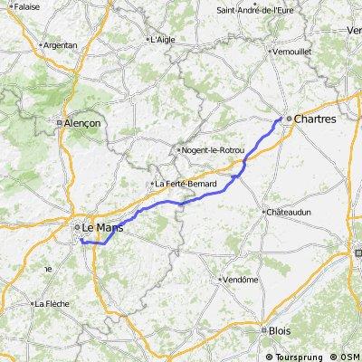 Chartres-Brou-Le Mans 124km 350hm