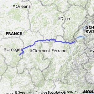 Genève - Ussel Août 2012