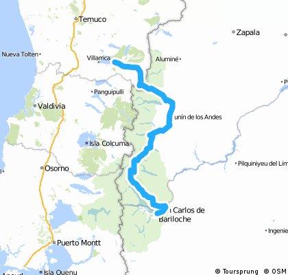 Bariloche to Pucón