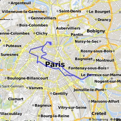 Traversée de Paris des Tontons Vélo 11 janvier 2015