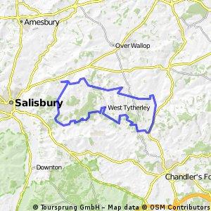 Winterslow to Mottisfont 30 mile MTB loop