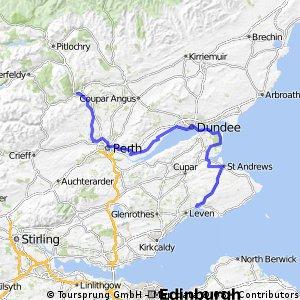 Route England/Scotland day 14