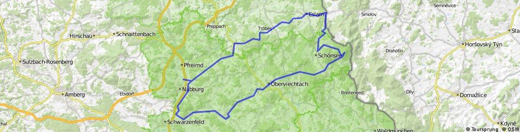 Perschen-Tillyschanz-Stadlern-Oberviechtach-Wölsendorf-Perschen