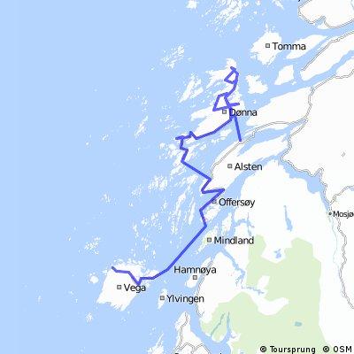 Helgeland Route 11 Vega - Herøy - Dønna - Sandnessjøen