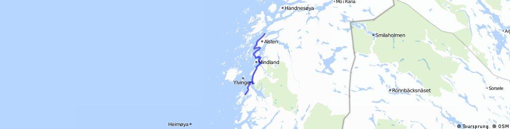 Helgeland Route 11 Sandnessjøen - Tjøtta - Forvik - Andalsvågen - Brønnøysund