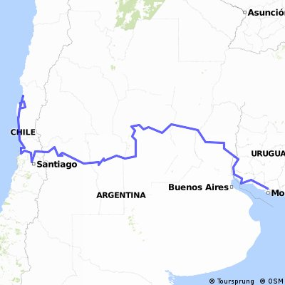 Desde Las Piedras, Uruguay a La Serena, Chile
