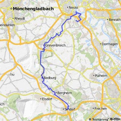 Erft-Radweg - von Sindorf  zur Mündung