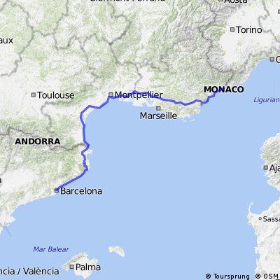 12 Barcelona to Monte-Carlo via Aix-en-Provence