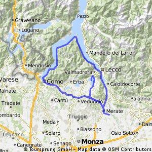 Giro lago Lecco interno